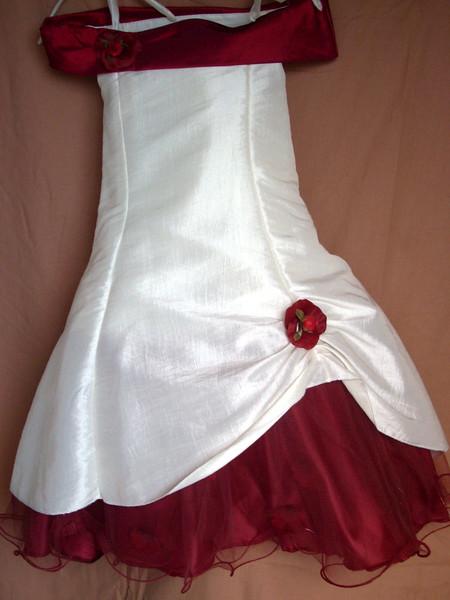 Robe PETALES - Robe en taffetas UNI, idéal pour les communions, les baptêmes ou cortèges de mariage