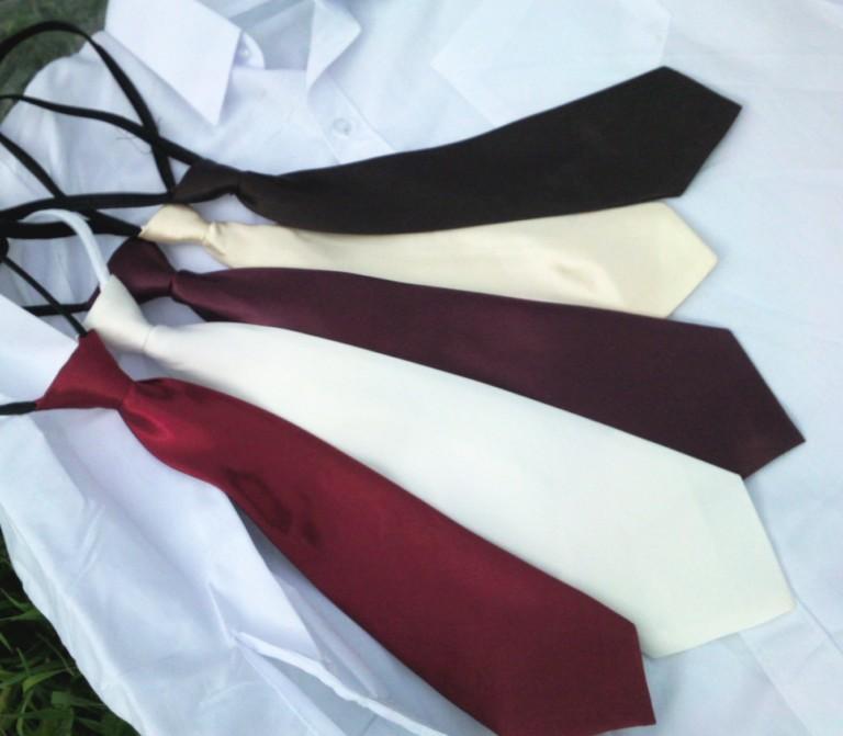 CRAVATTES SATIN Cravattes montées sur élastique réglable, et proposées en 2 tailles