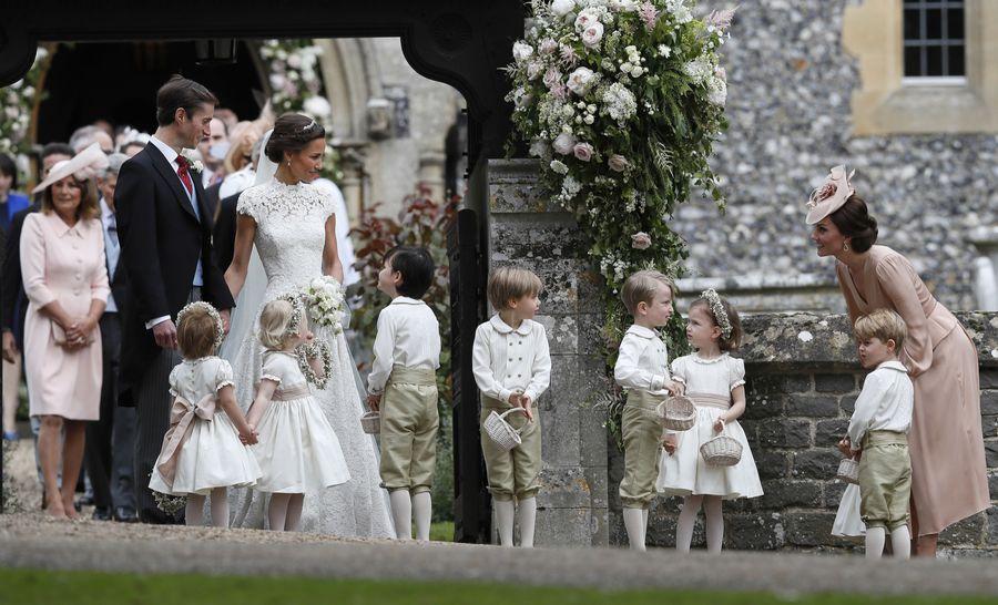 le mariage de Pippa Middleton les enfants royales en stars photo Abaca